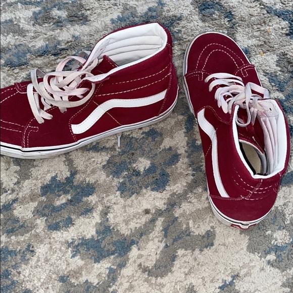 red old skool vans mens